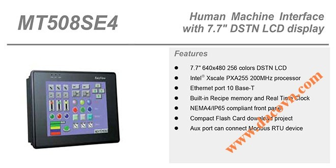 "MT508SE HMI Weintek – Easyview màn hình HMI 7.7"" màu MT508SE"