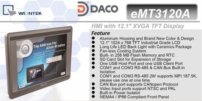 "eMT3120A HMI Weintek – Easyview màn hình HMI 12.1"" màu eMT3120A"