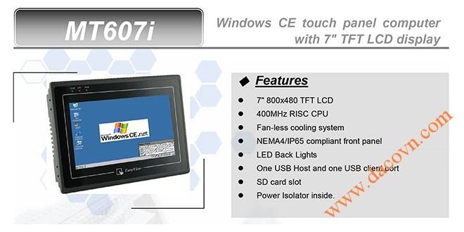 MT607i HMI Weintek – Easyview Máy tính công nghiệp 7 Inch mầu MT607i