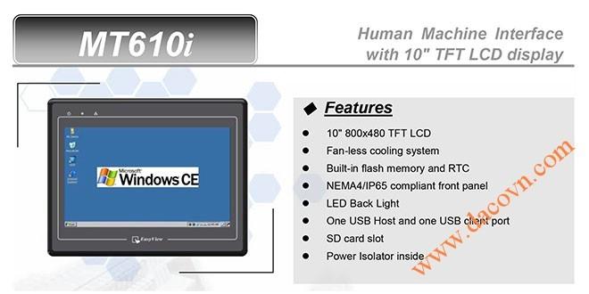 MT610i HMI Weintek – Easyview Máy tính công nghiệp 10 Inch mầu MT610i