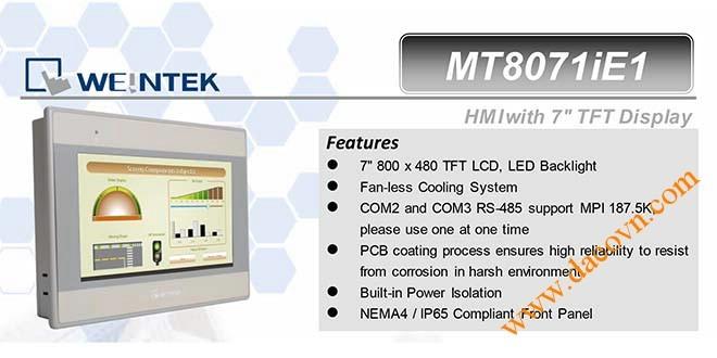 MT8071iE HMI Weintek – Easyview màn hình HMI 7 Inch mầu MT8071iE