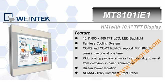MT8101iE HMI Weintek – Easyview màn hình HMI 10.1 Inch mầu MT8101iE