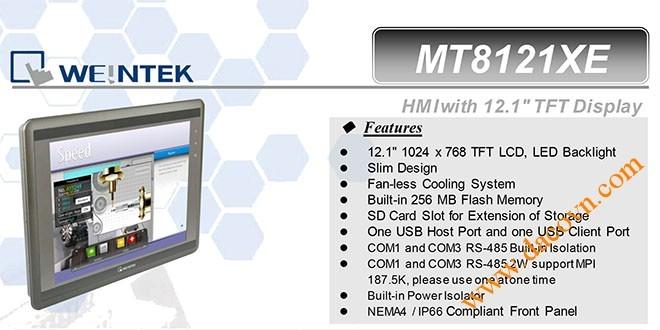 MT8121XE HMI Weintek – Easyview màn hình HMI 12.1 Inch mầu MT8121XE