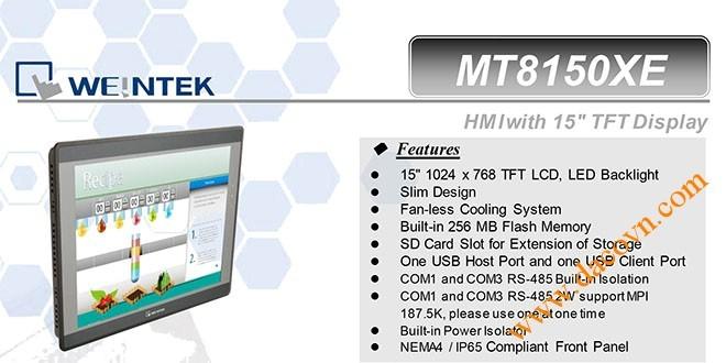 MT8150XE HMI Weintek – Easyview màn hình HMI 15 Inch mầu MT8150XE