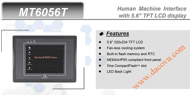MT6056T HMI Weintek – Easyview màn hình HMI 5.6 Inch mầu MT6056T