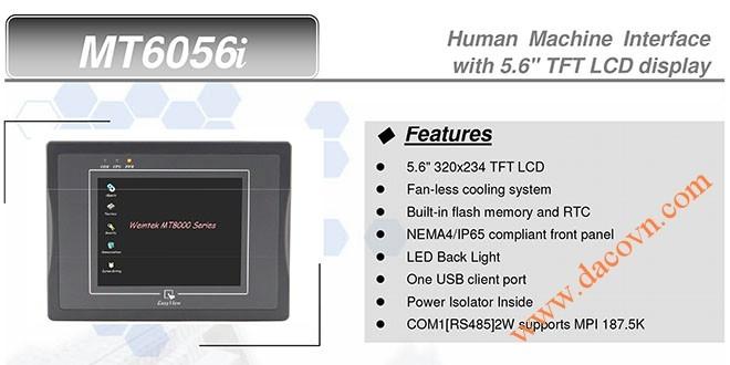MT6056i HMI Weintek – Easyview màn hình HMI 5.6 Inch mầu MT6056i