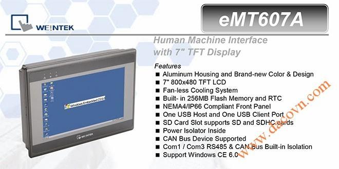 eMT607A HMI Weintek – Easyview Máy tính công nghiệp 7 Inch mầu eMT607A