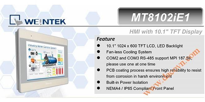 MT8102iE HMI Weintek – Easyview màn hình HMI 10.1 Inch mầu MT8102iE