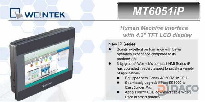 MT6051iP HMI Weintek – Easyview màn hình HMI 4.3 Inch mầu MT6051iP