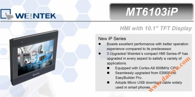 MT6103iP HMI Weintek – Easyview màn hình HMI 10.1 Inch mầu MT6103iP