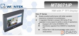 MT8071iP HMI Weintek – Easyview màn hình HMI 7 Inch mầu, Ethernet MT8071iP