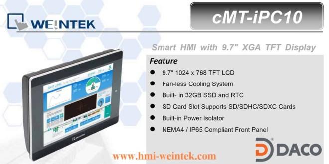 Màn Hình Cảm Ứng Hiển Thị HMI Weintek CMT-IPC10: 9.7 Inch