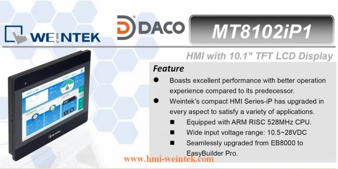 MT8102iP1 HMI Weintek – Easyview màn hình HMI 10.1 Inch mầu MT8102iP1 Ethernet