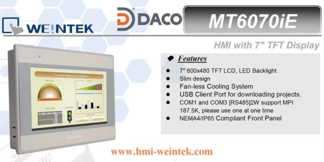 MT6070iE HMI Weintek màn hình HMI 7 Inch mầu, Ethernet MT6070iE