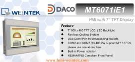 MT6071iE HMI Weintek màn hình HMI 7 Inch mầu, Ethernet MT6071iE