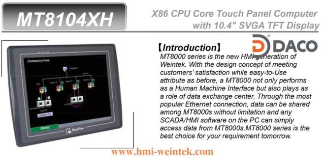 MT8104XH Màn hình cảm ứng HMI Weintek 10.4 Inch