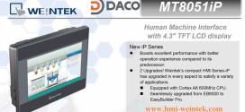 MT8051iP HMI Weintek Màn Hình Cảm Ứng 4.3 Inch Mầu, Ethernet MT8051iP
