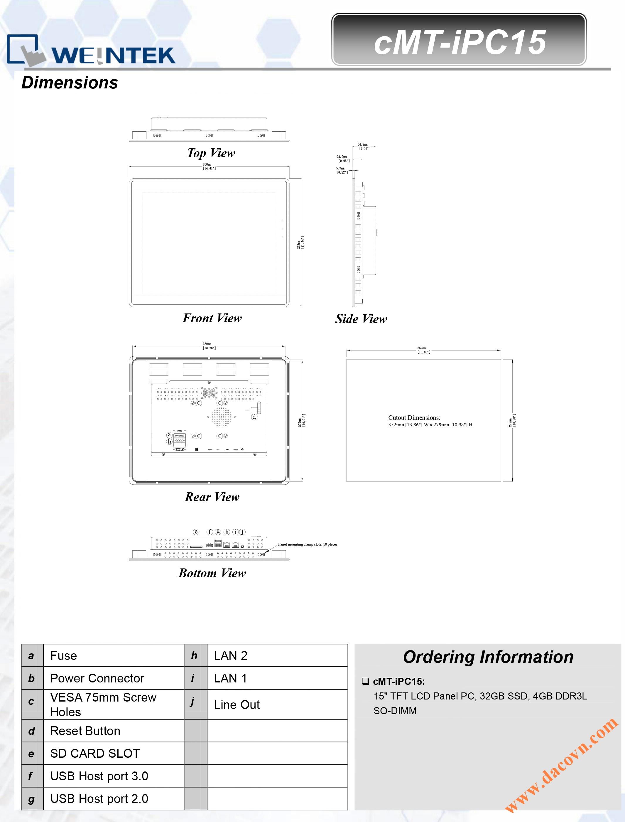 cMT_iPC15 Màn hình hiẻn thị điều khiển cMT-SVR
