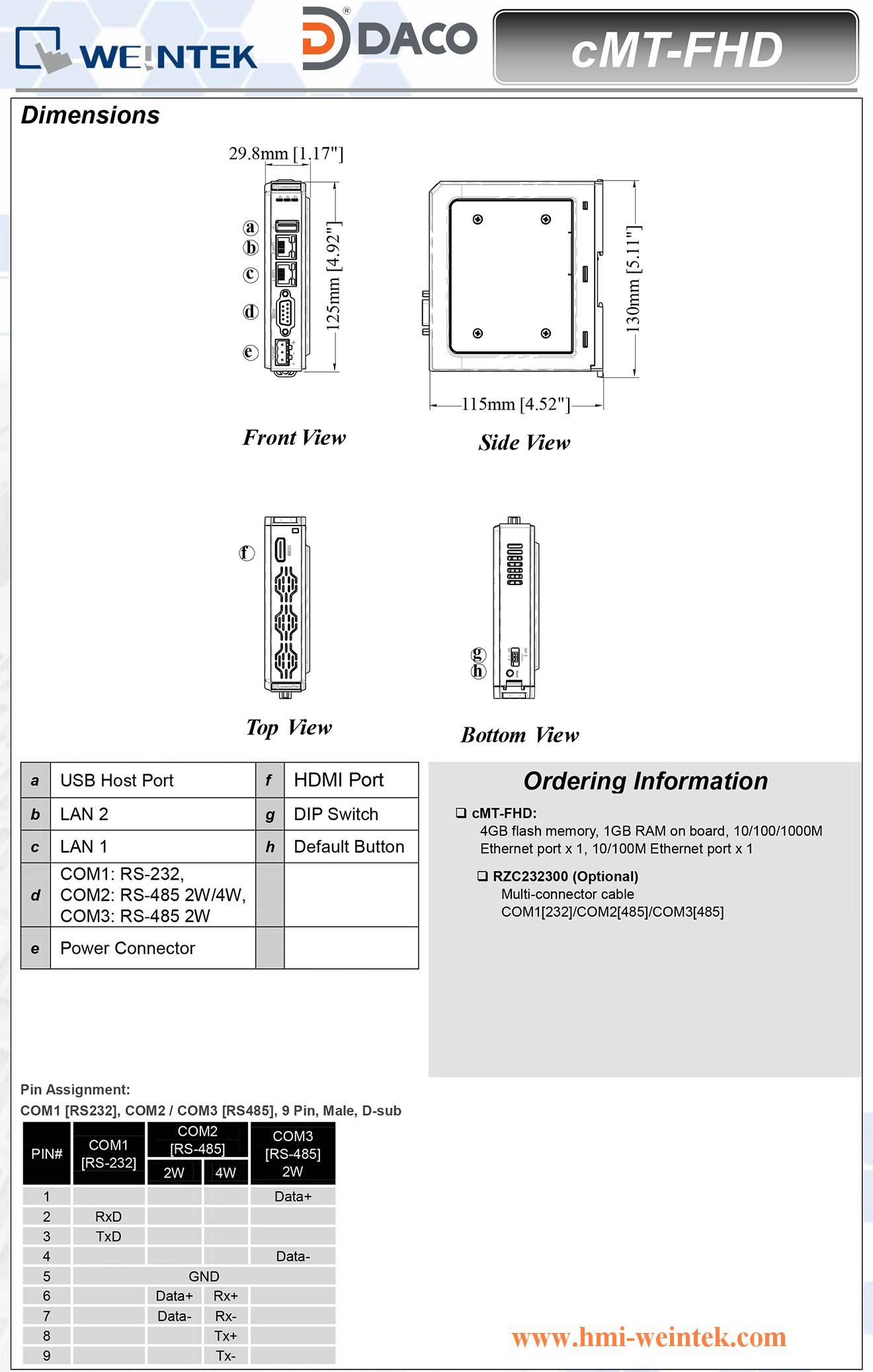 cMT-FHD_Dimension Bo dieu khien hien thi giao tiep man hinh Tivi LCD HDMI